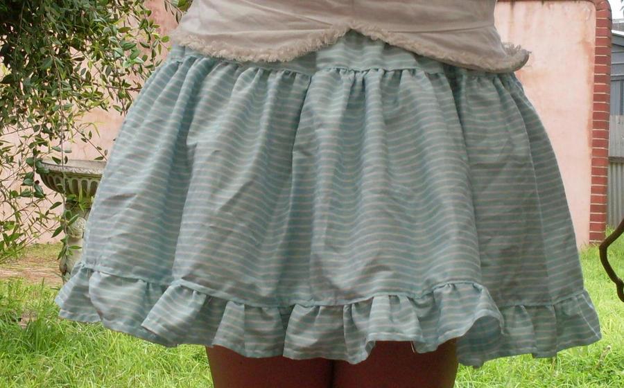 Blue stripe lolita skirt by sharvani