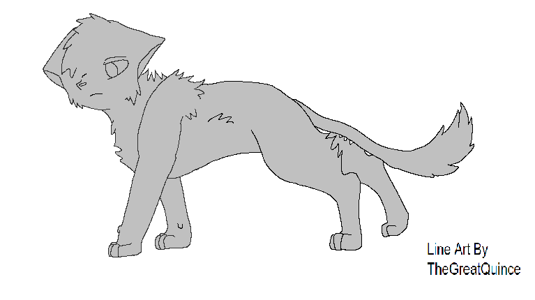 Free Cat Line Art by TheGreatQuince