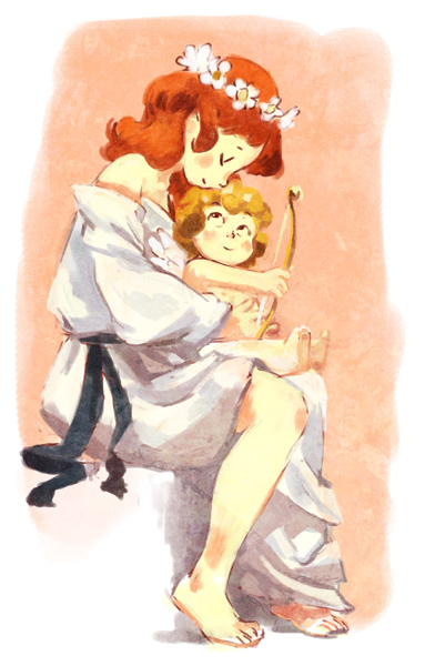 Psyche and Cupidon by kosal
