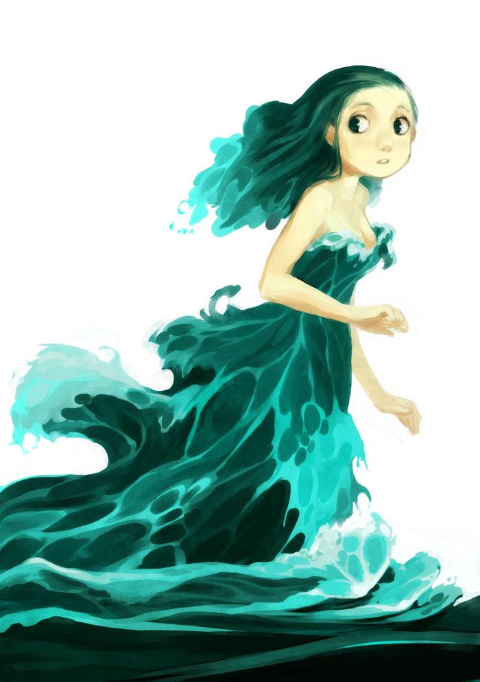 Water dress by kosal on DeviantArt