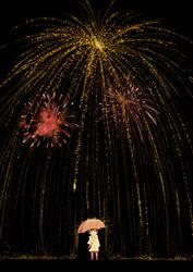 Rain of fireworks by kosal