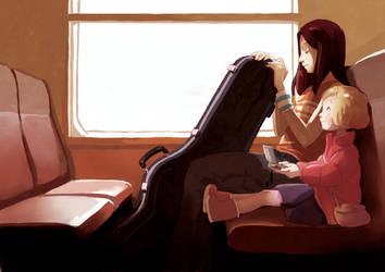 Girls in the train. by kosal