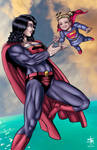 Superwoman and Baby Kara (1 year) by StudioKatsumi