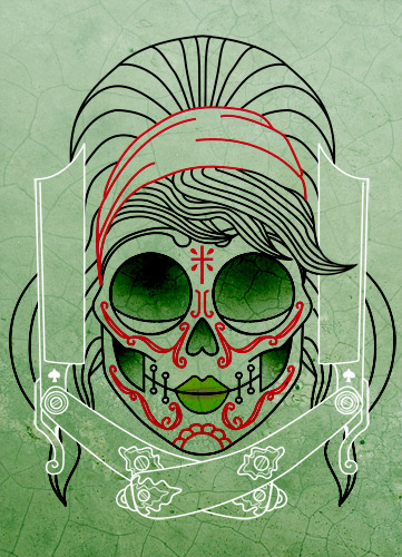 Betty Mexican Skull Tattoo by someofthathomegrown