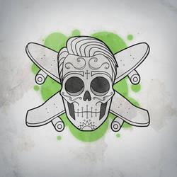 Skater skull by someofthathomegrown