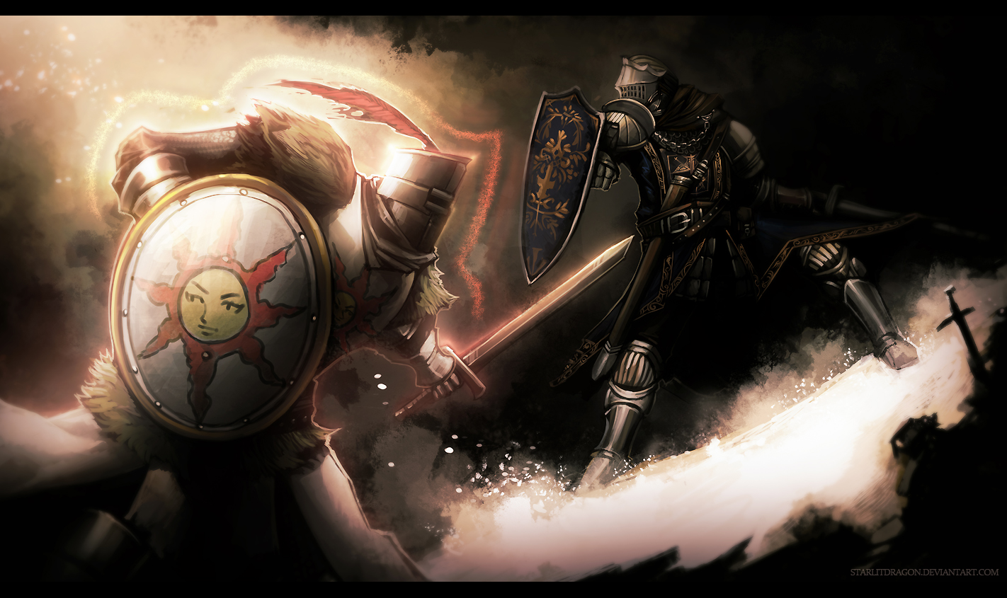 COMMISSION: Dark Souls, Knights of Astora by Starlitdragon