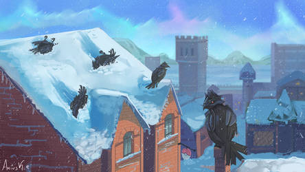 Corviknights rollin' in the snow