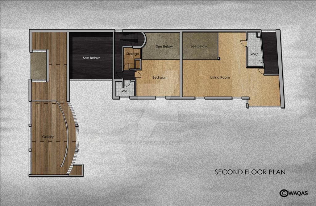 Second Floor Plan Maison La Roche By Waqascuteboy On Deviantart