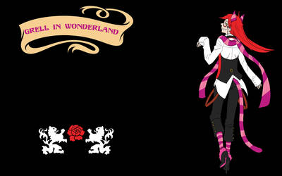 Grell in Wonderland...again by MelissasFanArt