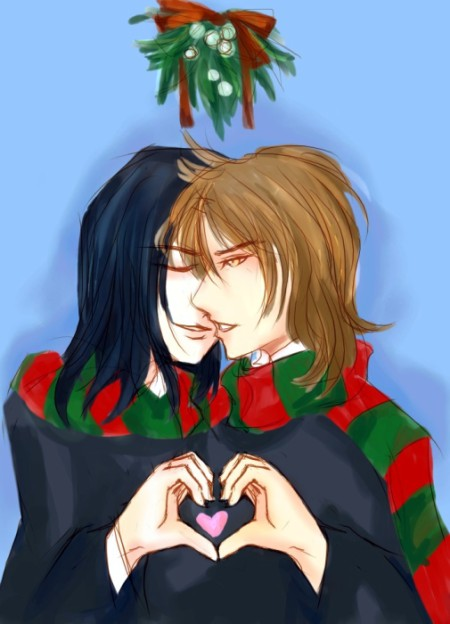 HP: 12-2006 Under mistletoe by Severus-x-Remus-Club