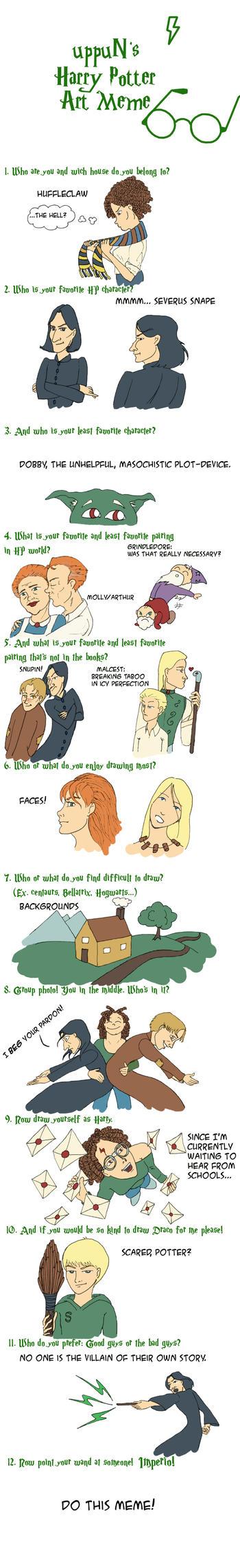 uppuN's HP Art Meme by Severus-x-Remus-Club