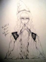 Professor Dumbledore by starvyng-artyst