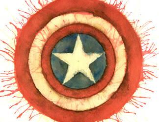 Cap's Shield by starvyng-artyst