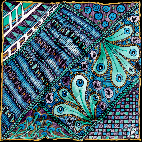 Blue/Green/Purple Patterns by beefgnawpolis