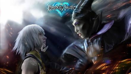 Maleficent and Riku.