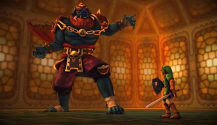 Pig Ganon vs Link