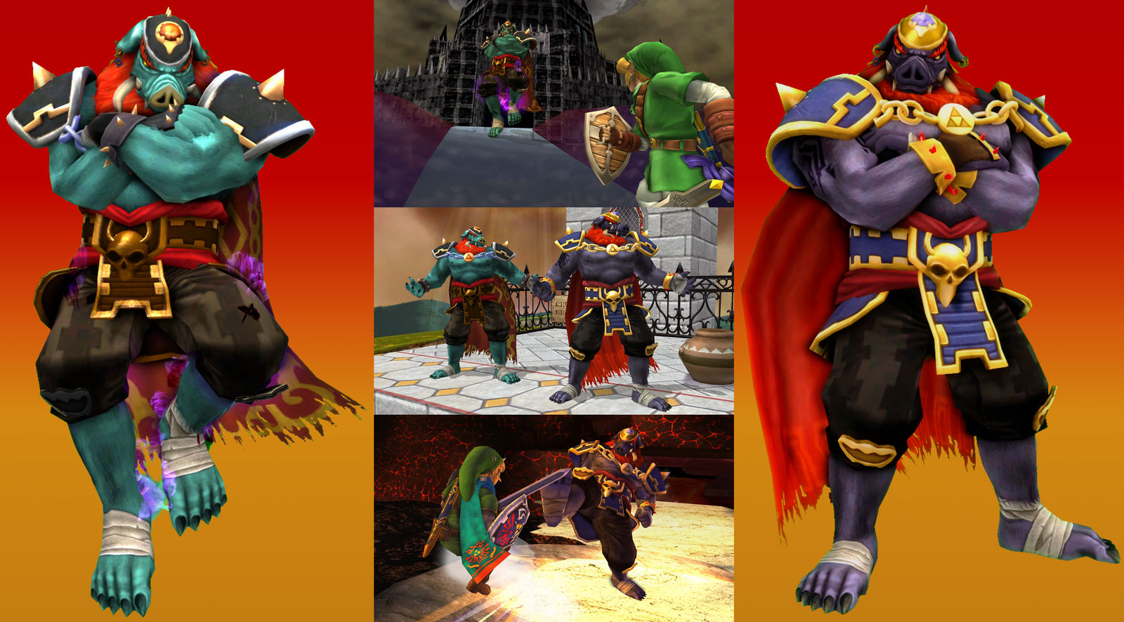 Brawl/Project M Mods - Pig Ganon Recolors by Ch40sKnight on