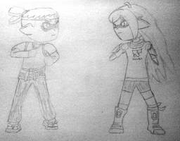 Splatoon - Ryu vs Yang sketch