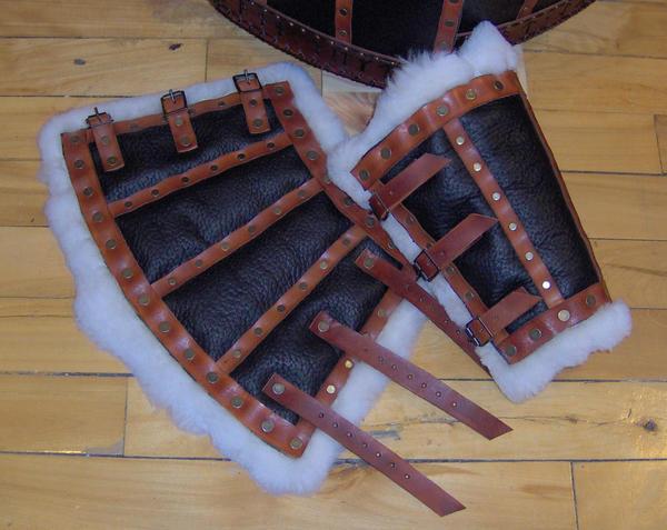 Patterned Bronze Bracers