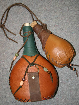 Leather covered bottles