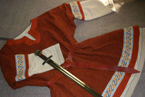 Orange Viking male costume by Laerad