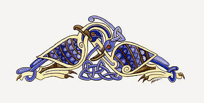 Birds from the Book of Kells by Laerad