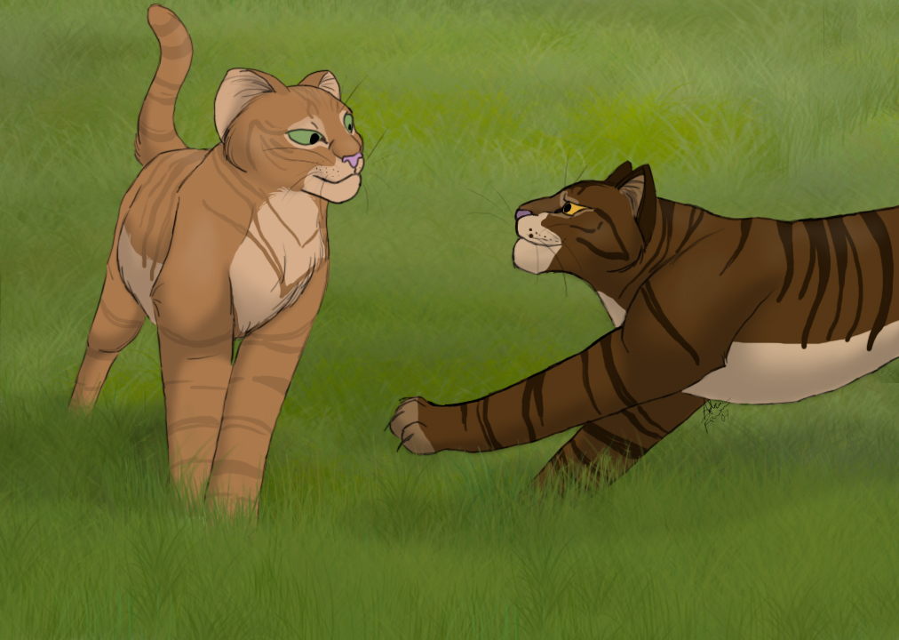 Squirrelflight and Brambleclaw by cycle-of-menace on DeviantArt