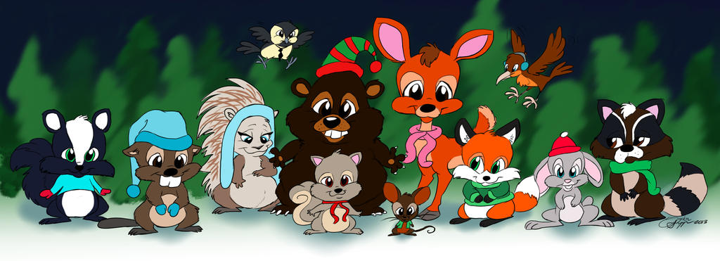 Woodland critter christmas by creativecrystal on deviantart