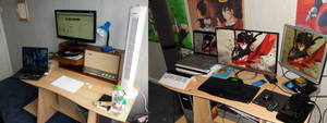 Old workspace (Left 3y ago) New workspace (Right)