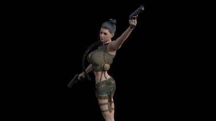 Denise Milani as Lara Croft 15