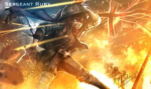RWBY [WW2 Nations] UK - Ruby by ThyBlake