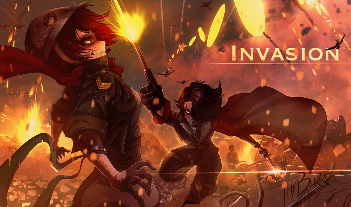 RWBY [WW2 Nations Battles] INVASION Ruby vs Cinder by ThyBlake