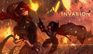 RWBY [WW2 Nations Battles] INVASION Ruby vs Cinder by ThyBlake
