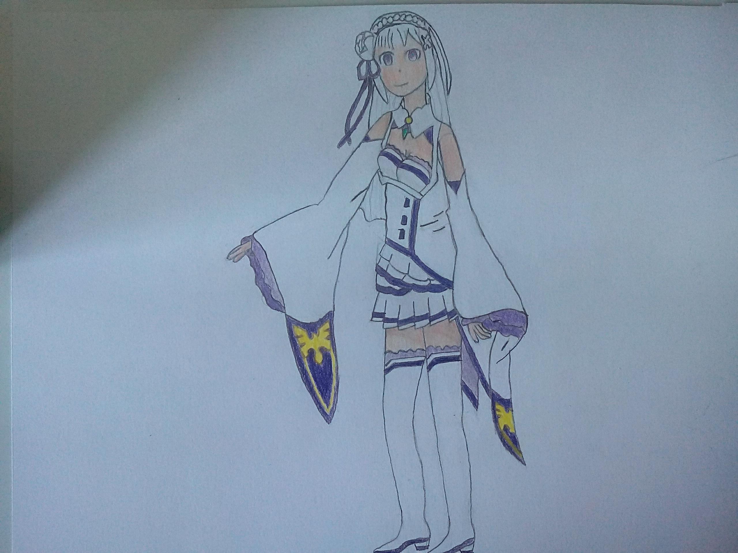Line Art Zero : Emilia re zero by ramog on deviantart
