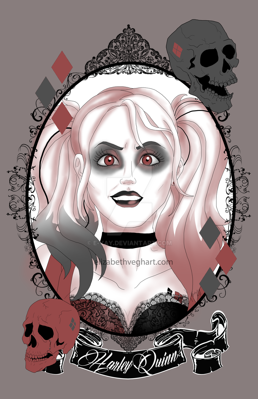 DC Gals: Harley Quinn by E-vay