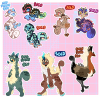 Juvenile and Guest Chimereon Adopts -CLOSED- by ground-lion