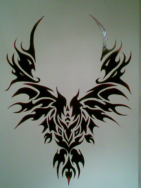 simple tattoo design wall painting by echo on deviantart with wall painting - Design Of Wall Painting