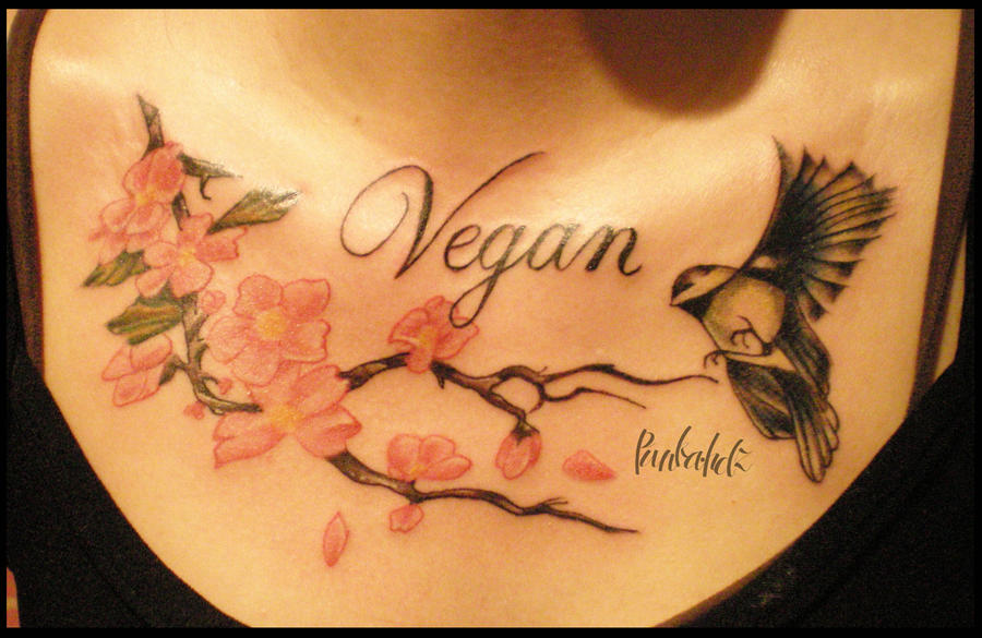 Vegan by punkatattoos on deviantart for Vegan tattoo shops near me