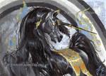 EBAY AUCTION - ACEO Gilded Dark Beauty by JenniferAnneEsposito