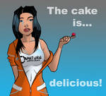 The cake is...