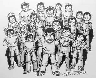 Inktober 2017 #31: Many by zAidoT