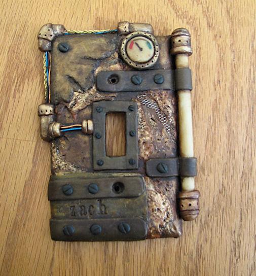 Steampunk switchplate by twistedcreaturesart
