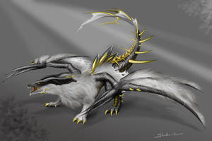 Draconic wolf by Shandra-chan