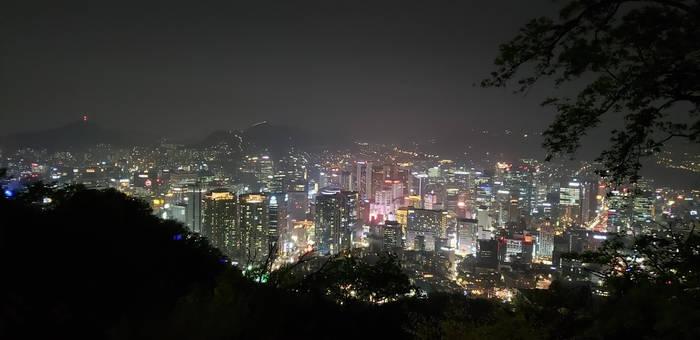 Seoul glowing at night