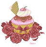 Cupcake and Roses by 17oclock