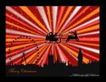 London Skyline at Christmas 2