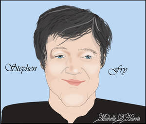 Caricature of Stephen Fry