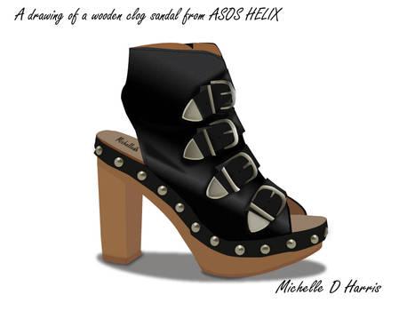ASOS Wooden Clog Sandal