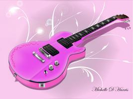 Pink Guitar by michelledh