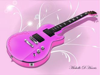 Pink Guitar by michelledh